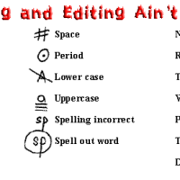 Proofreading and Editing Slider